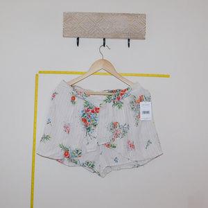 Free People Ivory Combo Skort Shorts